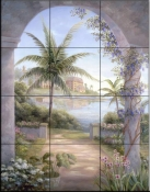 Tropical Terrace I    - Tile Mural