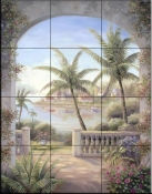 Tropical Terrace II    - Tile Mural