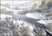 Winter Golf    - Tile Mural