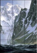 Sailboat    - Tile Mural