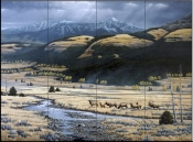 Big Valley Elk    - Tile Mural