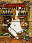Chef in Paris    - Tile Mural