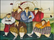 Scottish Links Club    - Tile Mural
