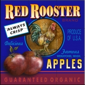 LS-Red Rooster Apples    - Tile Mural