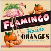 LS-Flamingo Orange    - Tile Mural