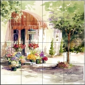 Flower Shop 1    - Tile Mural