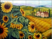 Sunflowers 2    - Tile Mural