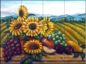 Sunflowers 1    - Tile Mural