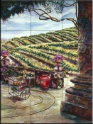 The Wine Vendor    - Tile Mural