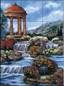 By The Waterfall    - Tile Mural