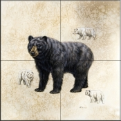 Black Bear    - Tile Mural
