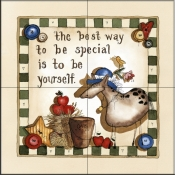 Be Special    - Tile Mural