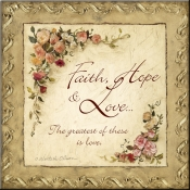 CO-Faith, Hope & Love - Accent Tile