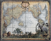 World Map    - Tile Mural