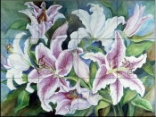 Lilies of the Field    - Tile Mural