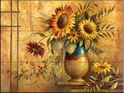Country Sunflowers I    - Tile Mural