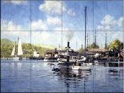 Mystic Harbor    - Tile Mural