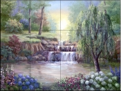 Hidden Waterfall II    - Tile Mural