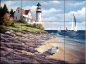 Sailing the Safe Harbor II   - Tile Mural