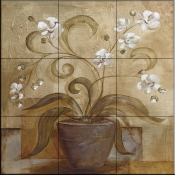 Orchid Delight   - Tile Mural