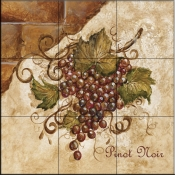Tuscan Grapes II   - Tile Mural