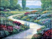 Lakeside Path    - Tile Mural