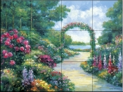 Lakeside Arbor    - Tile Mural