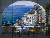 Amalfi Window    - Tile Mural