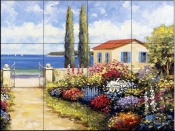 Coastal Garden Walk    - Tile Mural
