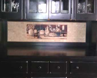 This kitchen tile mural scene is perfect for a kitchen backsplash.