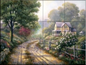 Lilac Morning    - Tile Mural