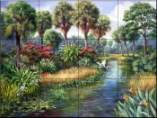 Everglades Paradise    - Tile Mural