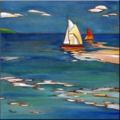 Portofino Distant Sails - Accent Tile