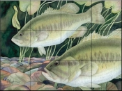 Largemouth Bass    - Tile Mural