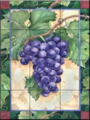 Cabernet Grapes  1  - Tile Mural
