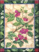 Heritage Raspberries    - Tile Mural