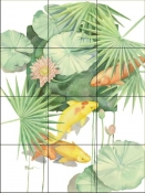 Tropical Pool 1    - Tile Mural