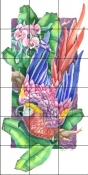 Paradise Macaw 2    - Tile Mural