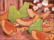 Melons and Pears    - Tile Mural