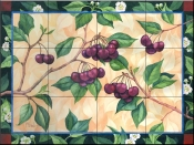 Bing Cherries    - Tile Mural