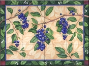 Blueberries  2  - Tile Mural