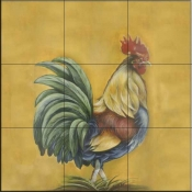 Rooster 3  - Tile Mural