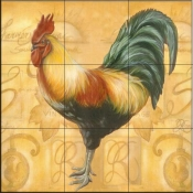 Rooster 6  - Tile Mural
