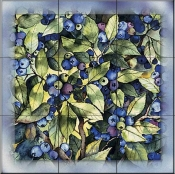 Blueberries   - Tile Mural