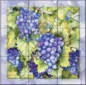 Grapes 1  - Tile Mural