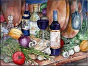 Gourmet Night   - Tile Mural