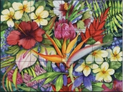 Tropical Floral   - Tile Mural