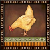 Fancy Rooster 4   - Tile Mural