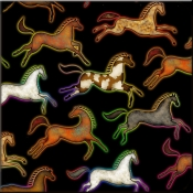 DM-Southwest Horse 4 - Accent Tile