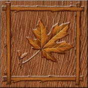 DM-Lodge Maple Leaf 1 - Accent Tile